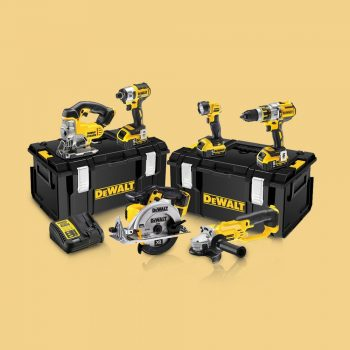 Toptopdeal-Dewalt DCK694P3 18V Brushless 6 Piece Kit 3 X 5 Ah Batteries With Charger & Kit Boxes